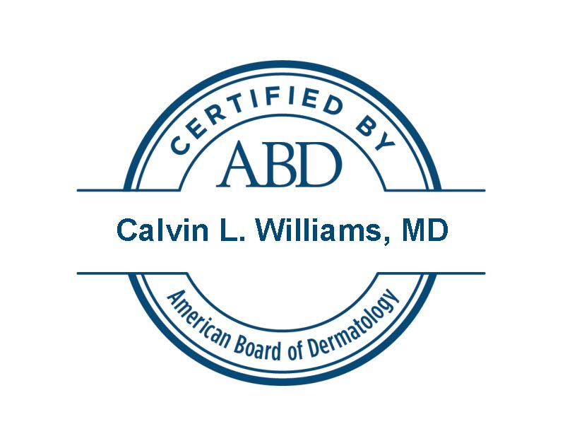 Certified by ABD - Calvin L. Williams, MD
